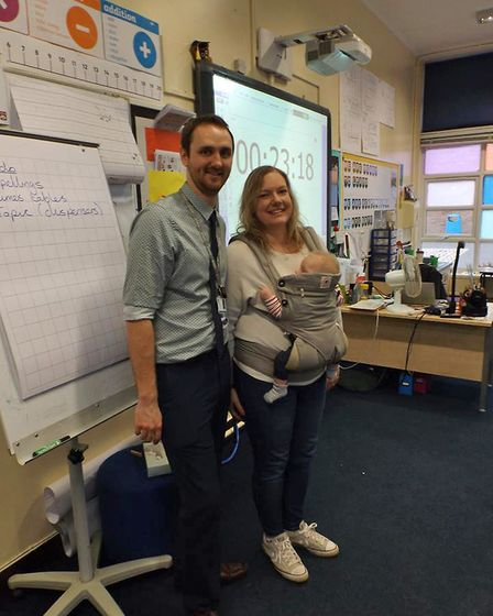 Staff at Wroughton Academies brought a family member to school to experience a day at their work. Ph