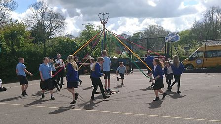 Brooke Primary School preparing for our May Day Extravaganza. Photo: Brooke Primary School