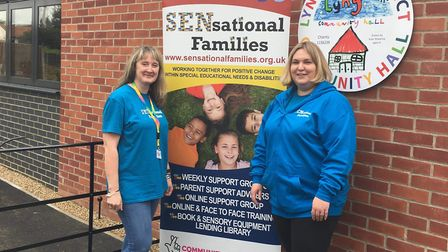 Nicki Price, co-founder of SENsational Families (left), at the launch of the charity's new support g