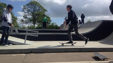 """Ash Lever said he was """"so stoked"""" by the opening of the park. Picture: Greta Levy"""