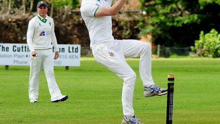Peter Minns prepares to deliver for Horsford Picture: TIM FERLEY