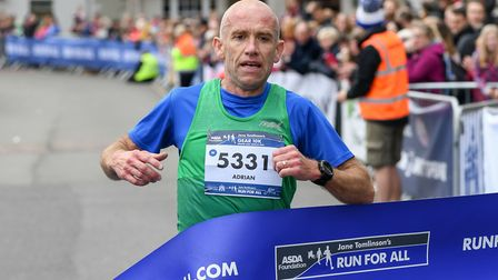 Colchester Harriers' Adrian Mussett takes first place at GEAR. Picture: Matthew Usher