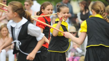 The family May Day Fair at Heigham Park. Maypole dancers. Picture: Denise Bradley