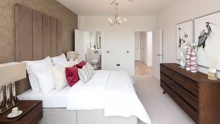 A penthouse apartment is for sale close to the football ground. Pic: Bidwells New Homes.
