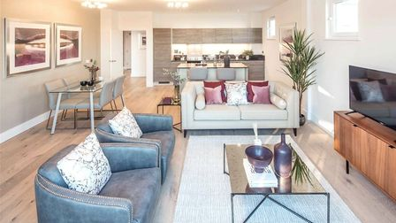 A penthouse apartment is for sale near the football ground. Pic: Bidwells New Homes.