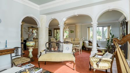 Fit for a footballer? Arrandale Lodge in the Golden Triangle is for sale for £875,000. Pic: William