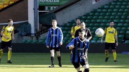 This Is For You FC played at Carrow Road to raise money for Super Strong Sophie. Picture: Wendy Beck