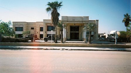 The accommodation block inside the Basra Palace walls where Phillip Gough and the Force Protection C