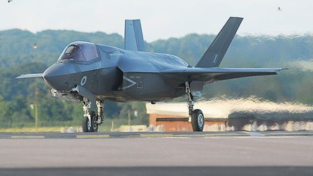 Pilots will be carrying out night flying exercises in the F35 Lightning Picture: Ian Burt
