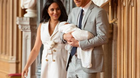 The Duke and Duchess arrive for the photocall with their new baby Picture: Dominic Lipinski/PA Wire