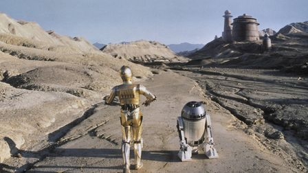 Star Wars: Episode VI – Return of the Jedi (1983). C3P0 and R2D2 approach Jabba's Palace. The origin
