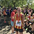 City of Norwich AC athlete Mabel Beckett after her victory at the Dereham 10 Mile Road Race. Picture