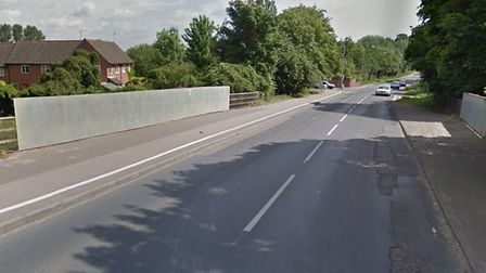 The incident happened at a roundabout on the B1172 London Road at Wymondham. Picture Google.