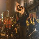 Extinction Rebellion Norwich staged their first critical mass bicycle ride in March. Pic: Dan Grimme