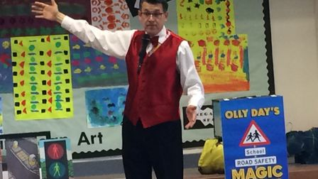 Olly Day at Aldborough school. Pictures: David Bale