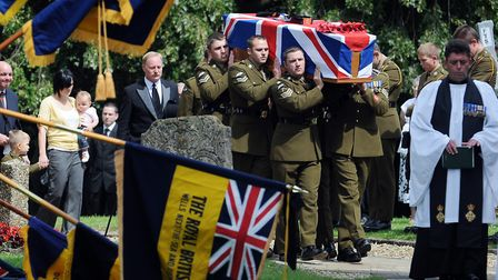 The funeral of Corporal Lee Scott at St Faiths Church in Gaywood, King's Lynn Picture: Matthew Ushe