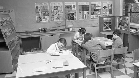 The new extension at Falcon Junior School (previously Falcon Middle School), 12 May 1970. Photo: Arc