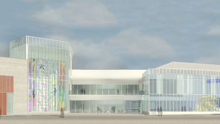 An artist's impression of the new water and leisure complex in Great Yarmouth as seen from the beach