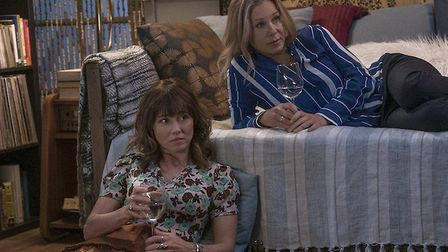 Judy helps bring Jen (right) out of her grief in Dead to Me Picture: Netflix
