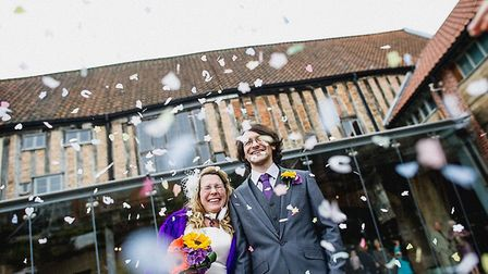 One of the city's oldest buildings is open again for weddings. This couple, Mr and Mrs Ducker, were