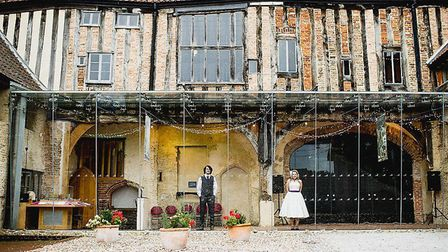 Dragon Hall provided a stunning backdrop for the wedding of Mr and Mrs Ducker. Pic: Ross Harvey