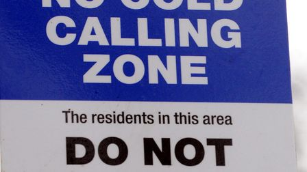 Suffolk Trading Standards has issued the warning. A No Cold Calling zone in Lowestoft. Photo: Nick