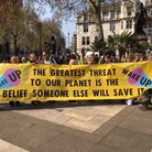 Members of the Norwich Extinction Rebellion group protesting in London. Picture: Hayley Pinto