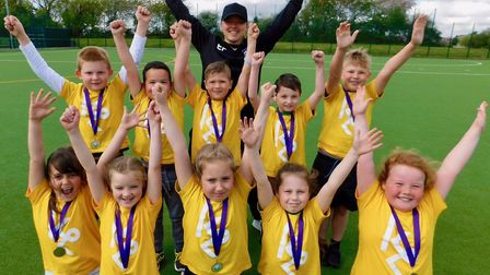 King's Oak Academy's Key Stage 1 Trigolf team were the champions at the West Norfolk School Sport Pa