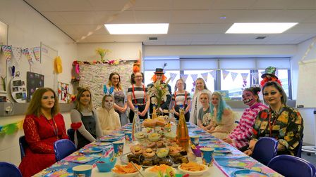 Students at the College of West Anglia hosted a charity Mad Hatter's Tea Party in support of Help fo