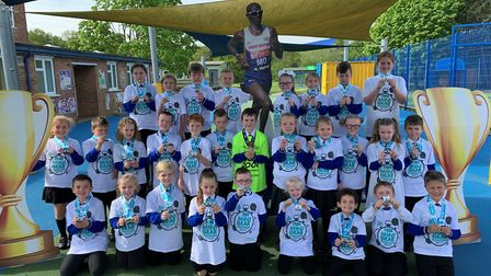 A record number of 43 pupils from Howard Junior School took part in the Mini-GEAR run in King's Lynn