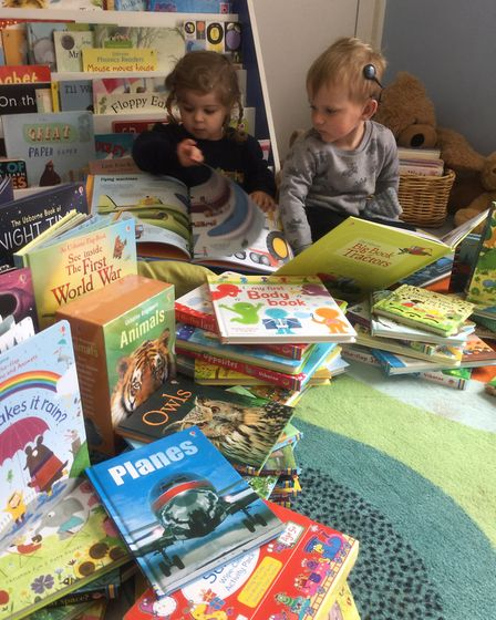 Stepping Stones Nursery School recieved £500 worth of books after children listened to stories in Us
