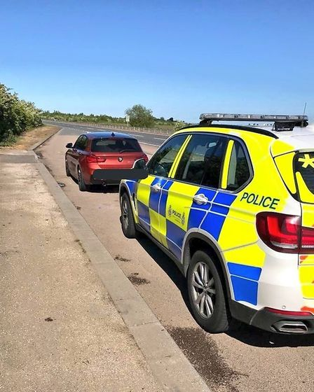 Six drivers were clocked driving at over 100mph on the A47 at Terrington St John. Photo: Norfolk and