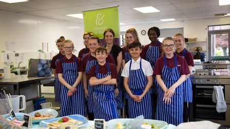 Students at Reepham High School took part in a Junior Masterchef competition as part of the Reepham