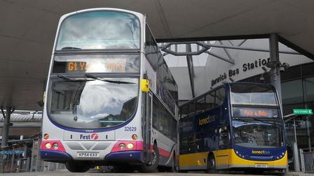 Taking over the running of Norwich Bus Station and Norwich Park and Ride - Konect Bus. Photo : Steve