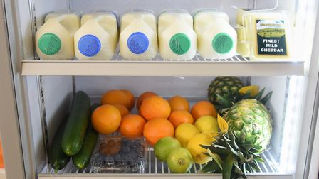 The community fridge in Heartsease, is ready for local people to help themselves to quality good foo