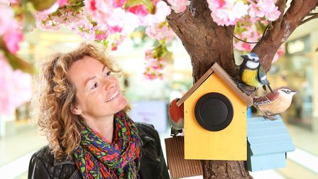Kate Humble launches a new initiative at intu Trafford Centre in Manchester, the installation is als
