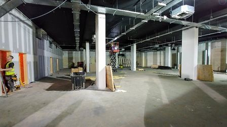 The new Pure Gym, currently being built in Castle Mall, Norwich. Pic: Pure Gym.