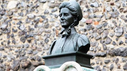 The Edith Cavell memorial in Norwich. Picture: Paul Hurst