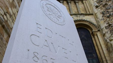 Edith Cavell's restored grave is blessed and dedicated by Bishop Graham James PHOTO BY SIMON FINLAY