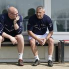 Lowestoft Town manager Jamie Godbold (right) pictured with his assistant Andy Reynolds Picture: SHIR