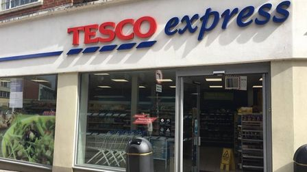 A man in his 50s was assaulted outside the Tesco Express in Westlegate. Picture: Louisa Baldwin