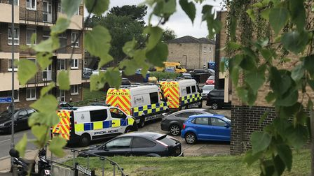 Norfolk police raiding a property in Heathgate, Norwich as part of Operation Gravity. Picture: Archa