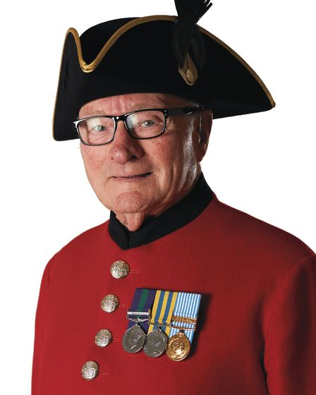 Colin Thackery, 89, Norfolk's Chelsea Pensioner and Britain's Got Talent star (C) The Royal Hospital