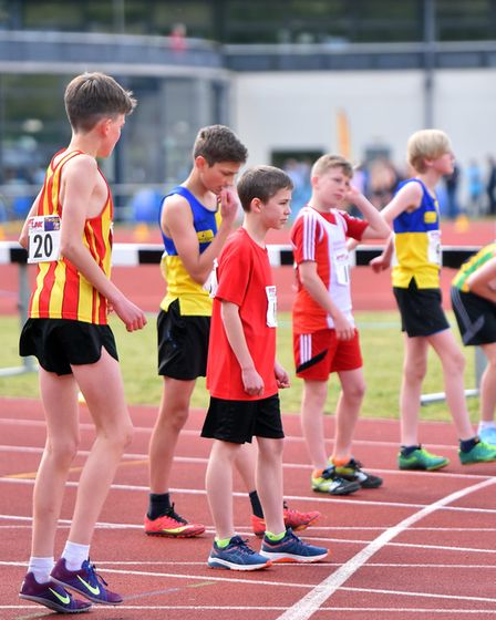 Action from the Norfolk Athletics Championships, UEA Sportspark. PICTURE: Jamie Honeywood