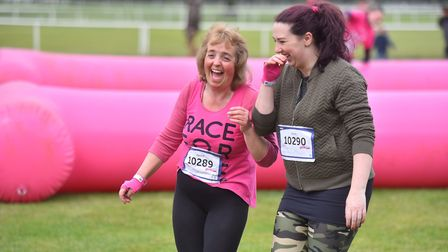 Action from the Muddy Race for Life on Saturday, Norfolk Showground. PICTURE: Jamie Honeywood