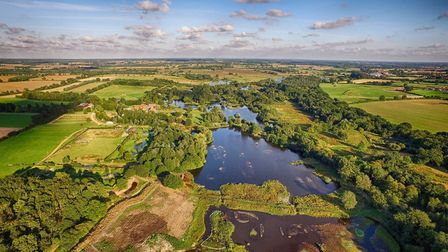 An aerial shot of Pensthorpe Natural Park. Photo: Aerial View Photography