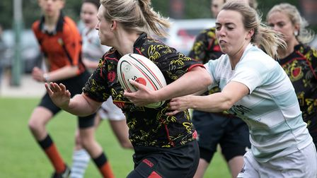 Action from the women's competition at North Walsham Picture: HYWEL JONES