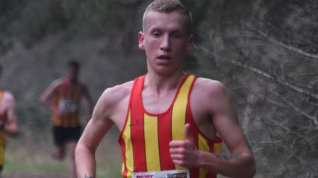 Logan Smith in action at the Norfolk Cross Country Championships at Thetford earlier this year. Pict