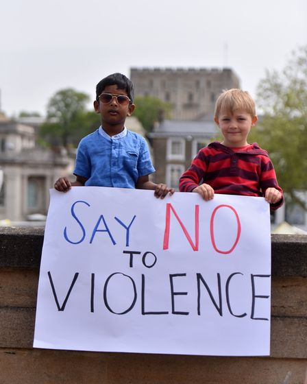 The Sri Lankan community in Norwich and other community members held a peaceful gathering in remembr