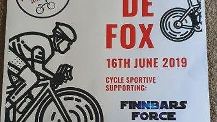Poster advertising the Tour De Fox charity ride. PIC: Supplied.